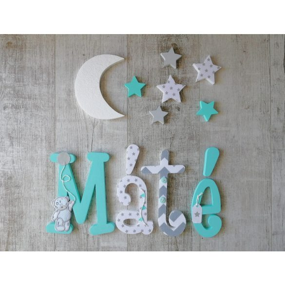 """""""Máté"""" stílusú dekor betűk bármilyen névvel!"""