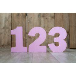 Festett szám rózsaszín