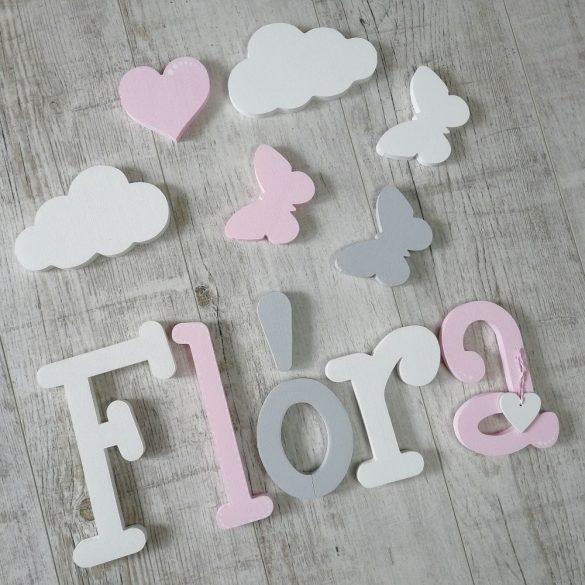 """""""Flóra"""" minimál stílusú dekor betűk bármilyen névvel!"""