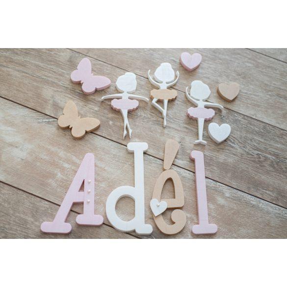 """""""Adél"""" gyöngyház stílusú dekor betűk"""