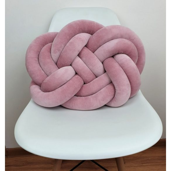 Precel csomó párna fáradt rózsaszín 40x50cm