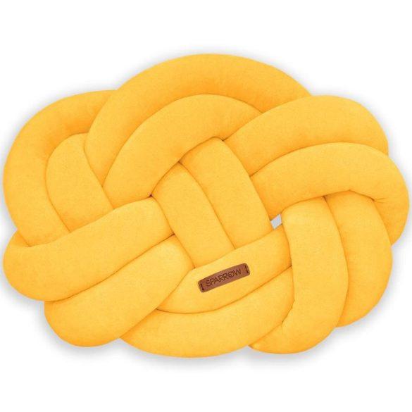 Precel csomó párna erős sárga