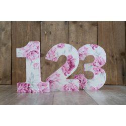 Virág mintás számok