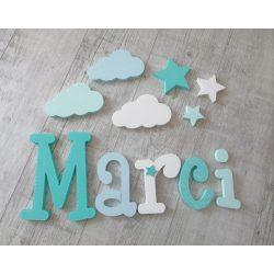 Marci stílusú dekorbetűk bármilyen névvel!
