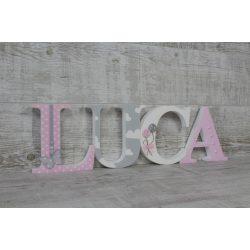 LUCA stílusú dekor betűk