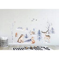 Skandináv, akvarell falmatrica XXL méret