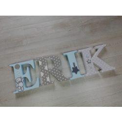 ERIK stílusú dekor betűk bármilyen névvel!