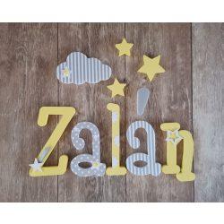 """""""Zalán"""" stílusú dekor betűk bármilyen névvel!"""