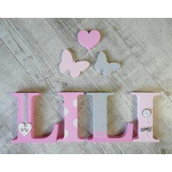 """""""LILI"""" stílusú dekor betűk bármilyen névvel"""