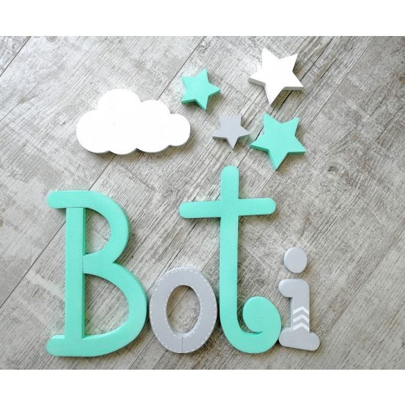 """""""Boti"""" minimál stílusú dekor betűk bármilyen névvel!"""