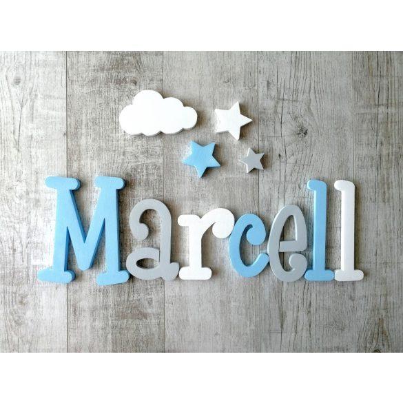"""""""Marcell """" minimál stílusú dekor betűk bármilyen névvel!"""