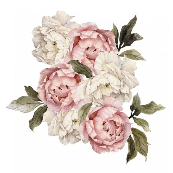 Rózsás falmatrica szett púder XXL