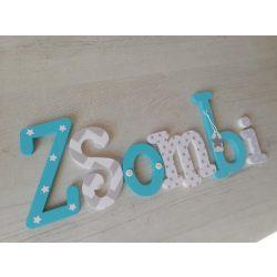 """""""Zsombi"""" stílusú dekor betűk bármilyen névvel!"""