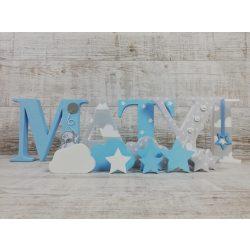 MATYI stílusú dekor betűk bármilyen névvel!