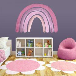 Szivárványos falmatrica pink 180cm XXL