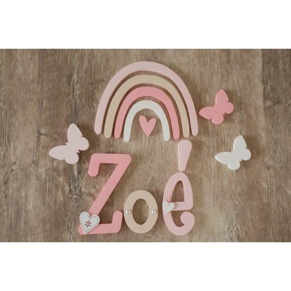 """""""Zoé"""" boho stílusú dekor betűk"""