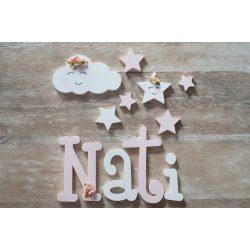 """""""Nati"""" stílusú dekor betűk"""