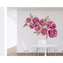 Rózsás falmatrica szett bordó XXL méret