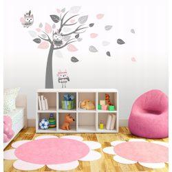 Indián baglyos falmatrica fával rózsaszín XL