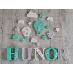 """Mentás """"HUNOR"""" stílusú dekor betűk bármilyen névvel"""