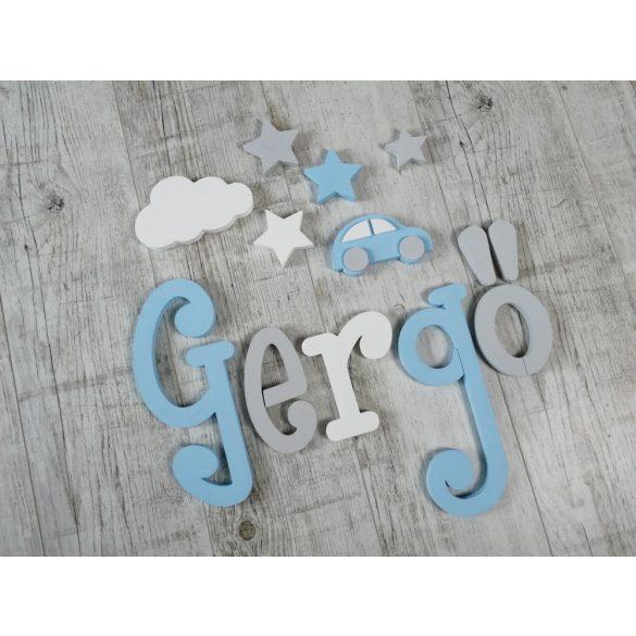 """""""Gergő"""" minimál stílusú dekor betűk bármilyen névvel!"""