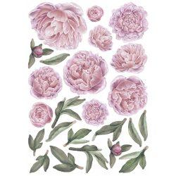 Rózsás falmatrica szett XL rózsaszín