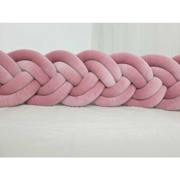Velúr dupla extra magas 30cm fonott rácsvédő p.rózsaszín