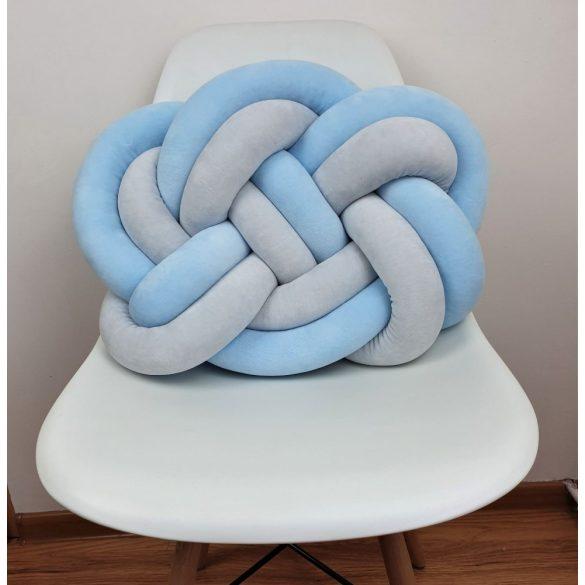 Precel csomó párna kék-szürke 40x50cm