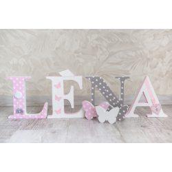 LÉNA stílusú dekor betűk bármilyen névvel