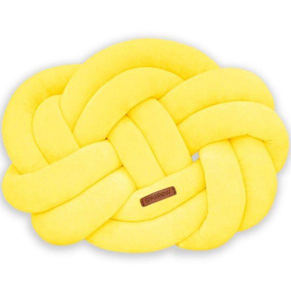 Precel csomó párna sárga