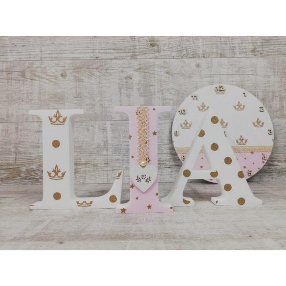 Koronás stílusú dekor betűk bármilyen névvel