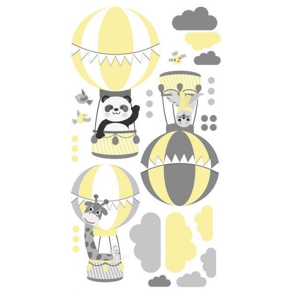 Zsiráf Fáni és barátai falmatrica sárga