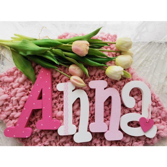 """Anna"" stílusú dekor betűk akciós"